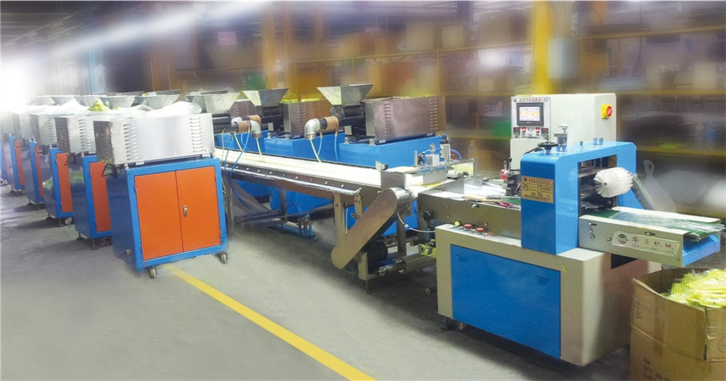 DZB-450 automatic 12 color mud packaging production line, (spit squeeze molding cutting and packing)